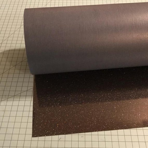 "Galaxy Black Siser Glitter 20"" x 10' (feet) Iron on Heat Transfer Vinyl Roll HTV"