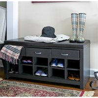 Bowery Hill Shoe Rack Bench in Espresso