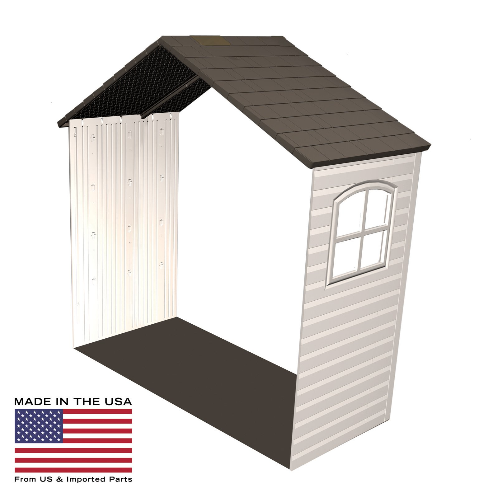 Lifetime 8 x 2.5 ft. Outdoor Storage Shed Expansion Kit with One Window