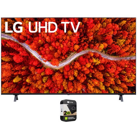 LG 65UP8000PUA 65 Inch 4K UHD Smart webOS TV (2021) Bundle with Premium Extended Warranty