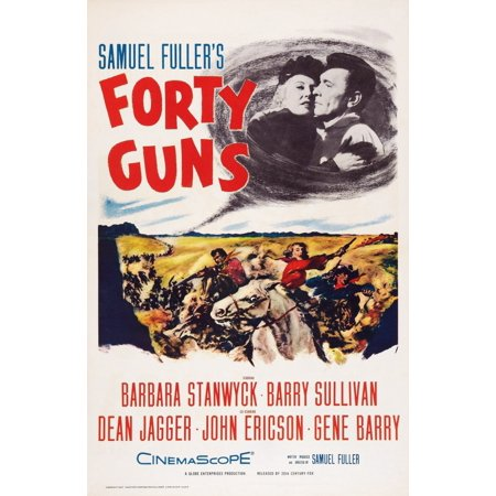 Forty Guns (Forty Guns Top L-R Barbara Stanwyck Barry Sullivan On Poster Art 1957 Tm And Copyright 20Th Century Fox Film Corp All Rights ReservedCourtesy Everett Collection Movie Poster Masterprint)