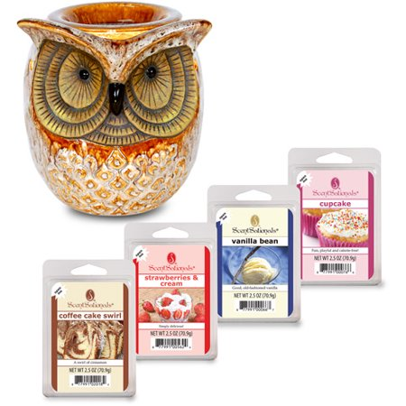 ScentSationals Spotted Owl Full-Size Wax Warmer Starter Set