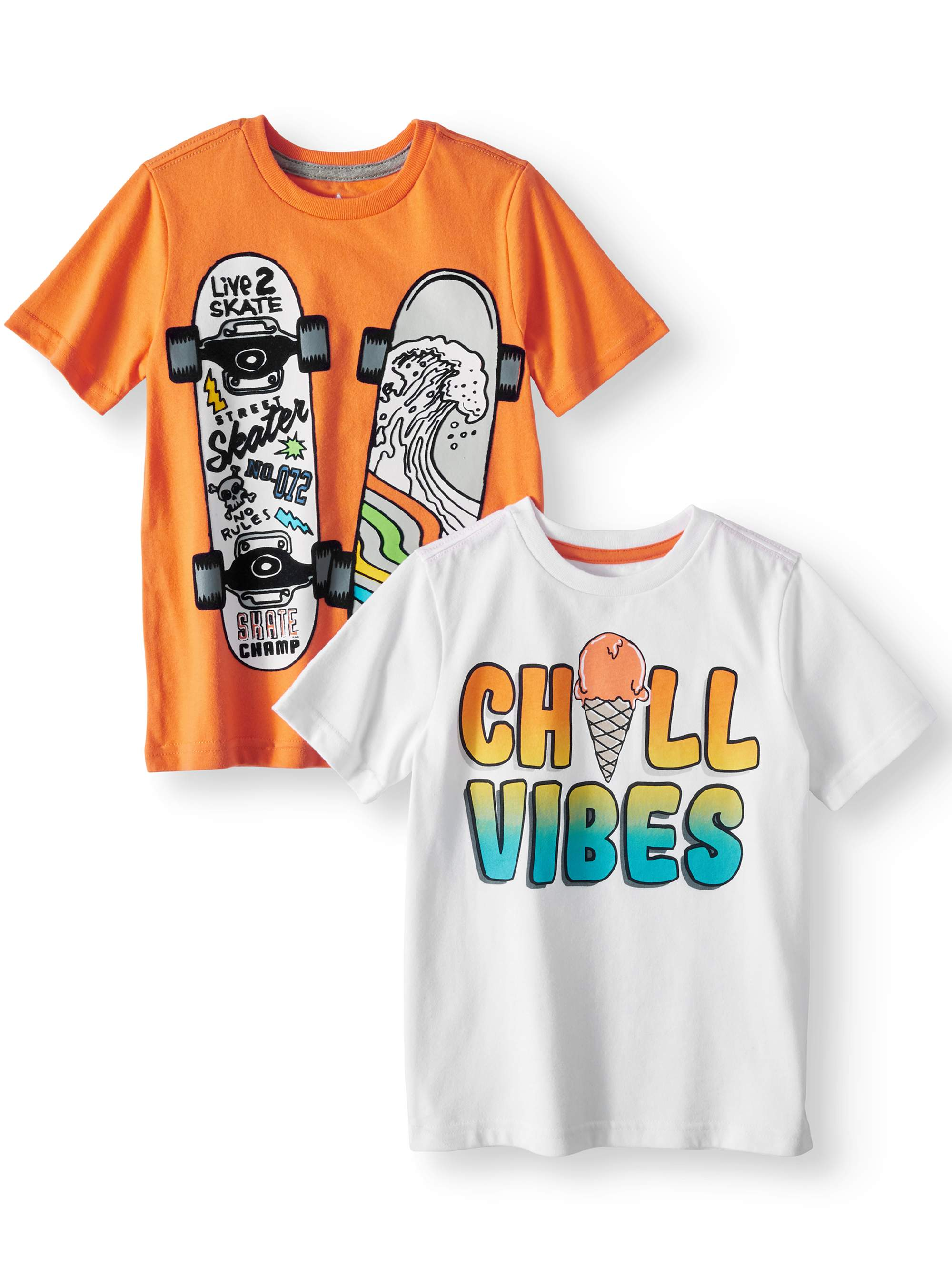 Graphic T-Shirts, 2-Piece Multi-Pack Set (Little Boys & Big Boys)