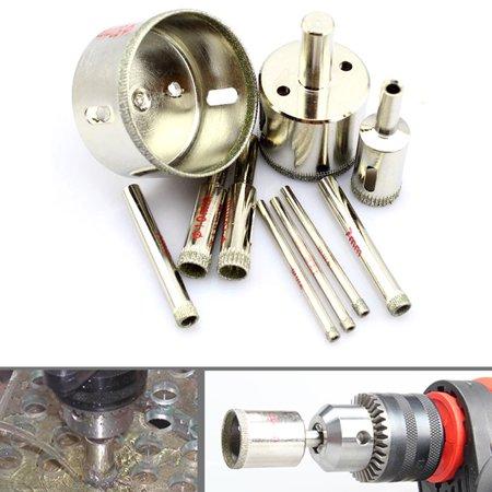 10Pcs Set 8 10 12 14 16 18 20 22 25 50Mm Diamond Coated Core Drill Set Tools
