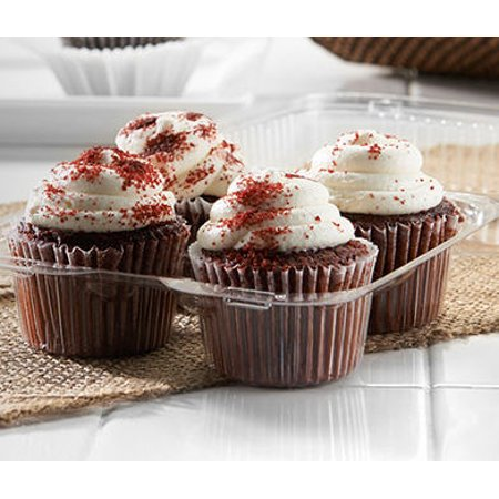 4 Compartment Cupcake Container - 10 pack