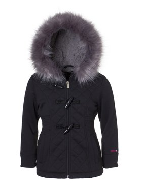 3386c56d020 Product Image quilted structured fleece coat with fur trim hood (little  girls & big girls)