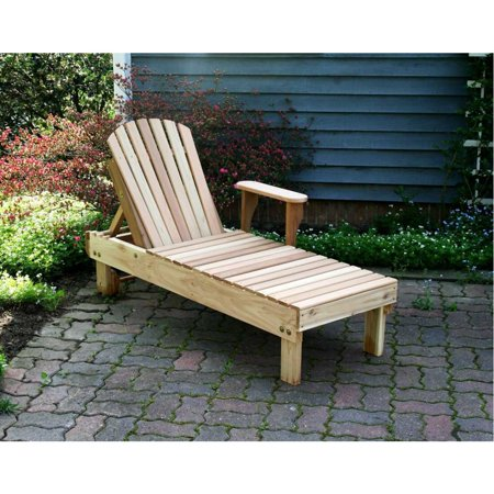 Creekvine Designs Home Outdoor Cedar American Forest Chaise Lounge