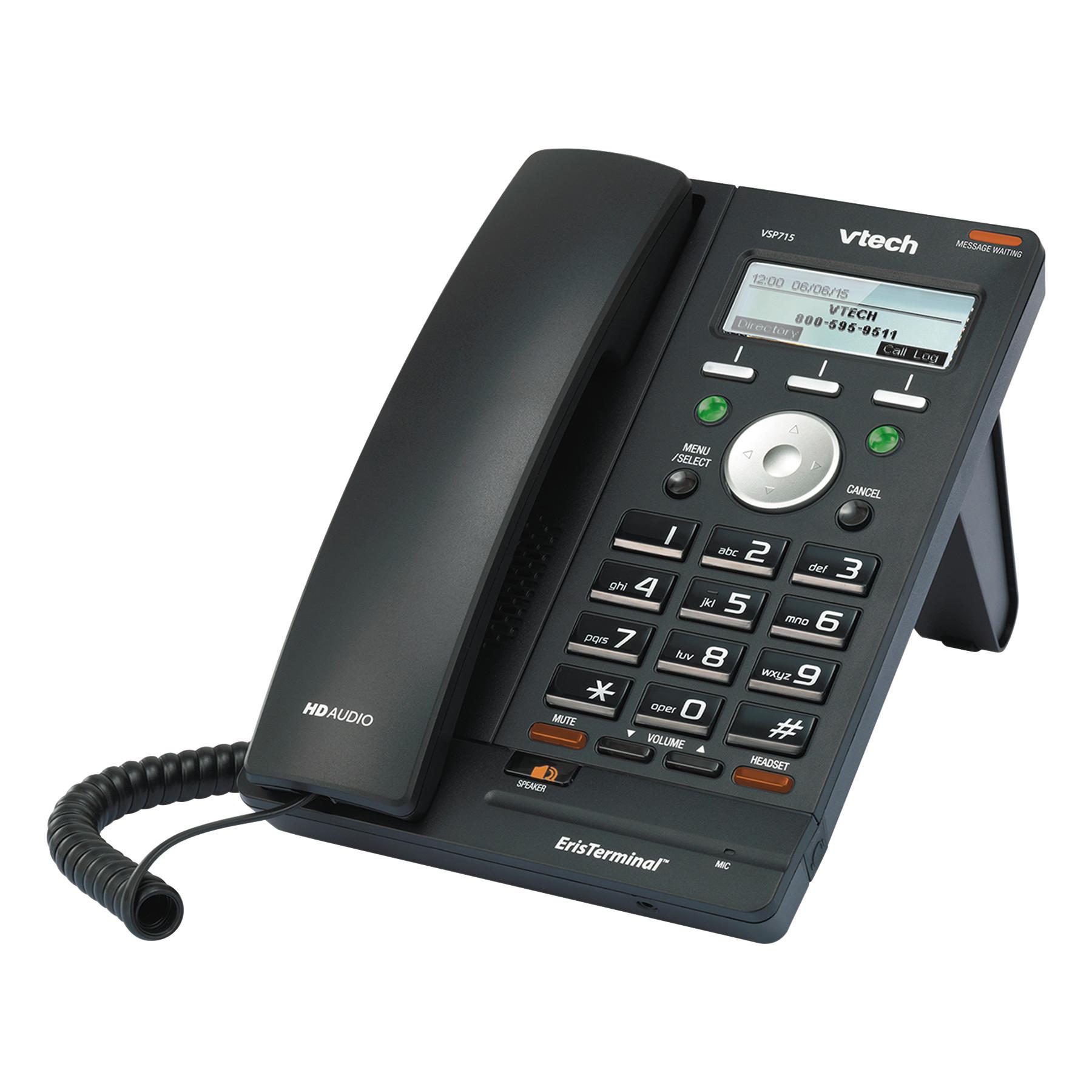 ERISTERMINAL VSP715 2LINE SIP/IP PHONE W/ POE & SPEAKERPHONE