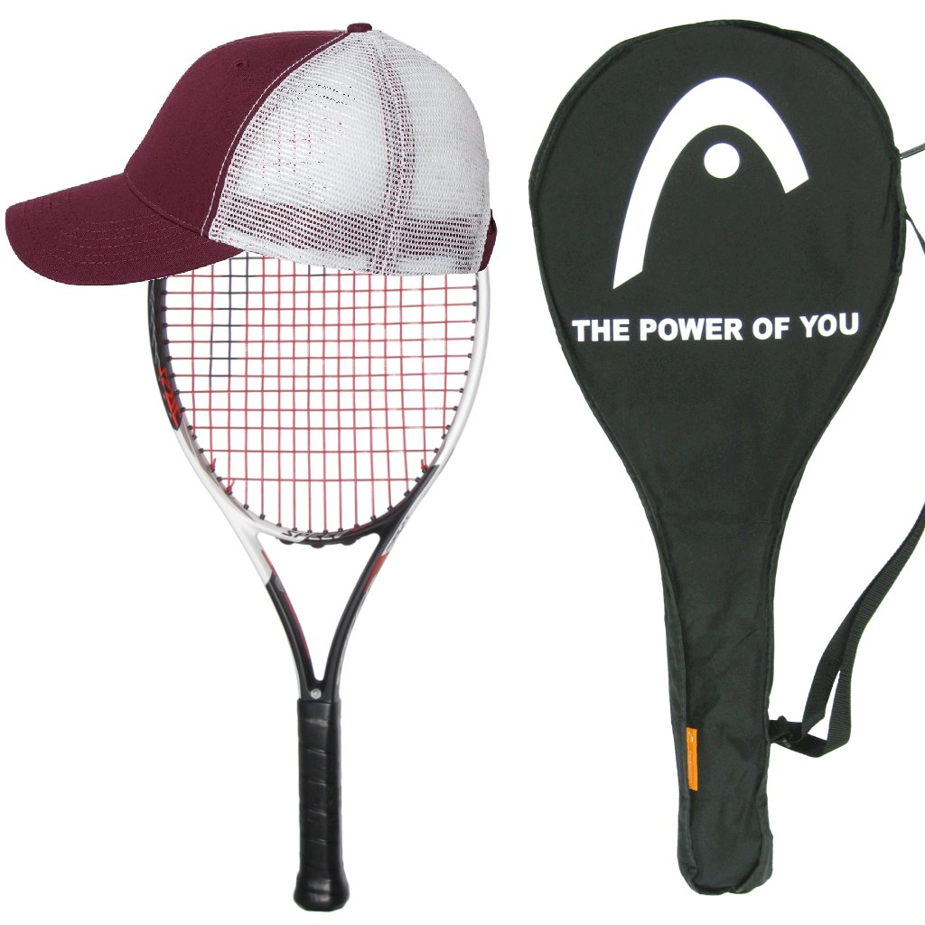 Head 2017 Graphene Touch Speed 25 Junior Tennis Racquet - Strung with Cover and Youth Hat
