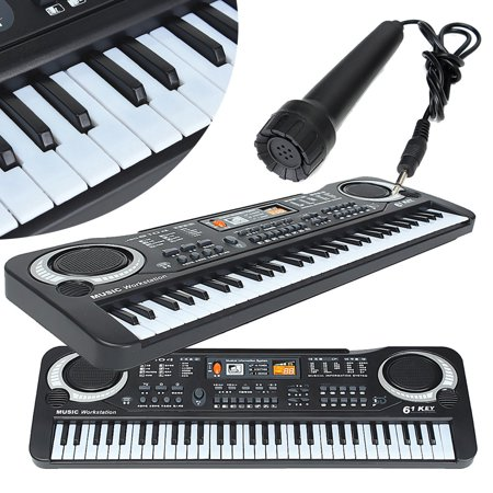 Kid's Children 61 Keys Small Music Electronic Digital Keyboard Key Board Electric Organ Piano Toys Christmas - Plastic Piano Keyboard