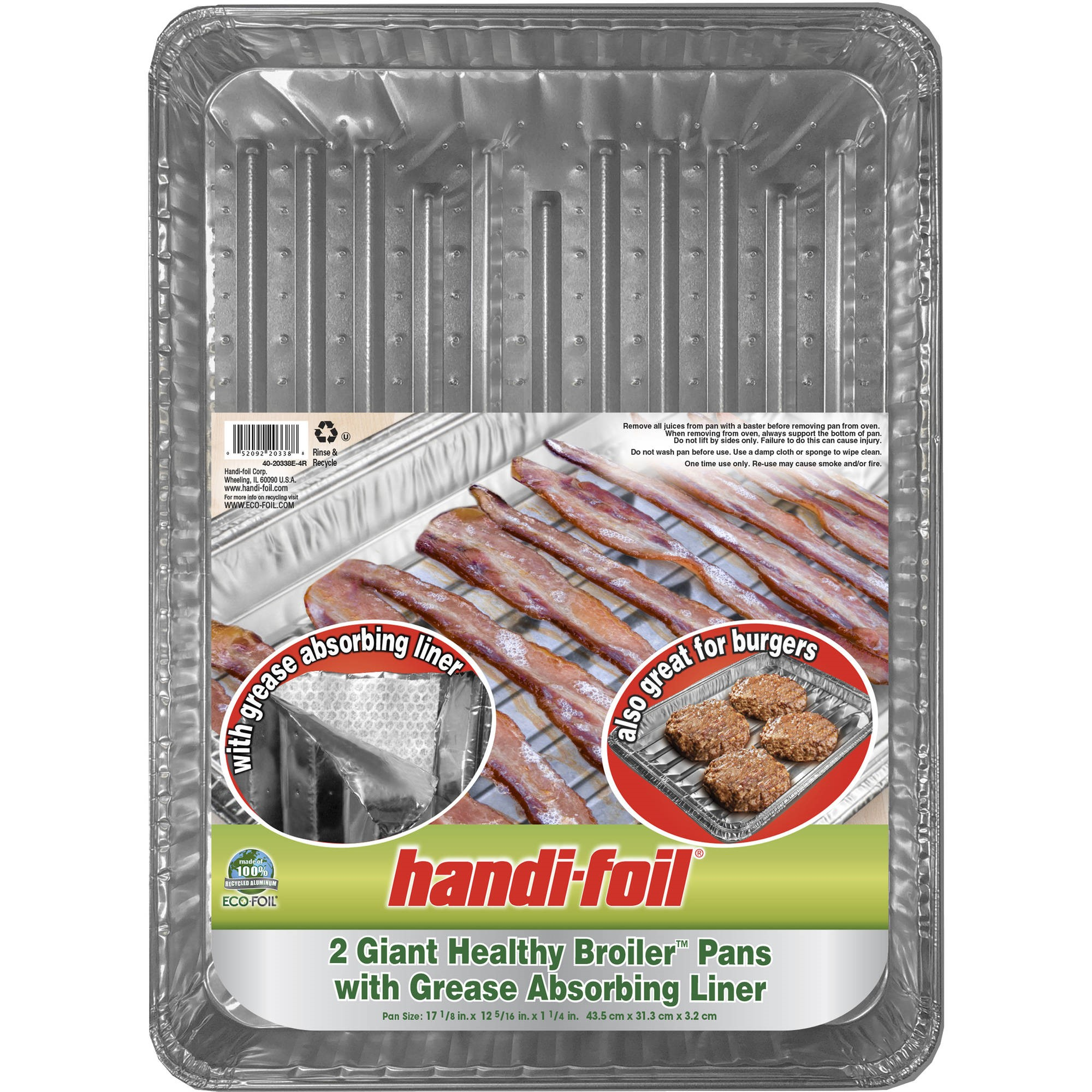 Giant Healthy Broiler Bacon Pan, 2-Pack
