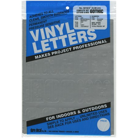 Silver Letters - Permanent Adhesive Vinyl Letters & Numbers 2