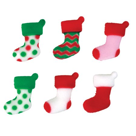 Elf Stockings Assortment Sugar Decorations Toppers Party Favors Cookie Cupcake Cake 12 - Party City Elk River