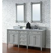 "James Martin Vanities 650-V72-2GLB Brittany 72"" Free Standing Double Basin Vanity Set"