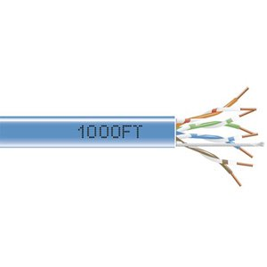 1000FT BULK CAT5E BLUE GIGABASE PVC SOLID CABLE 350MHZ