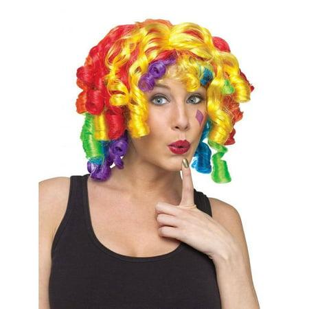 Neon Clown Wigs - Cutie Pie Clown Wig Adult Halloween Costume Accessory