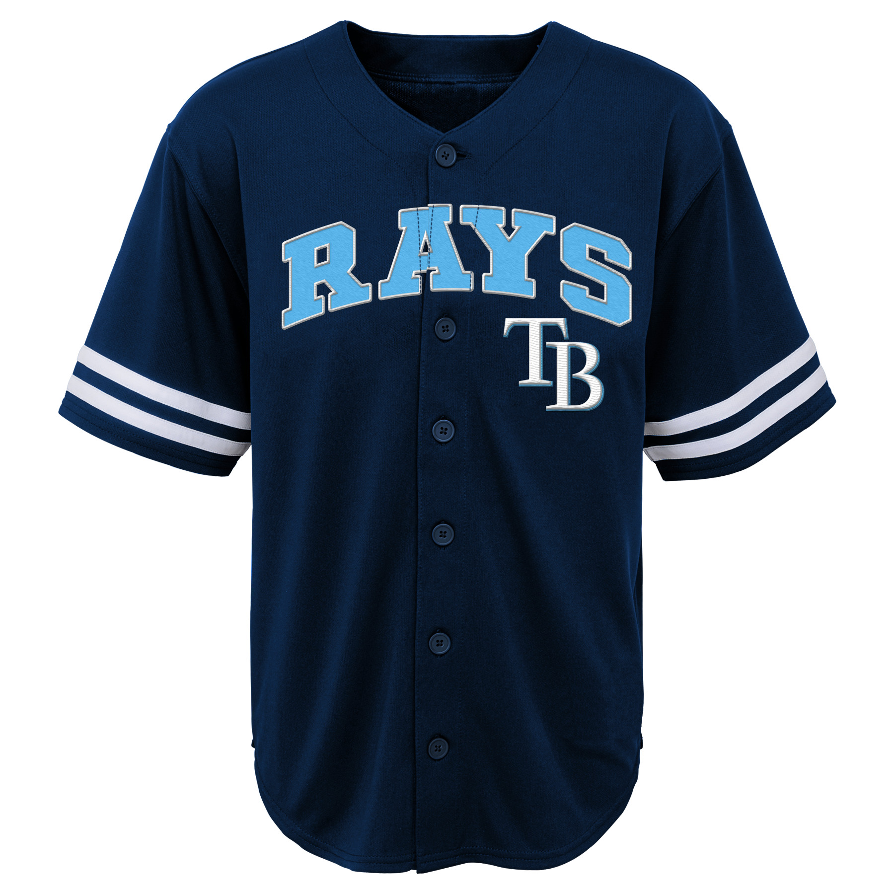 MLB Tampa Bay RAYS TEE Short Sleeve Boys Fashion Jersey Tee 60% Cotton 40% Polyester BLACK Team Tee 4-18