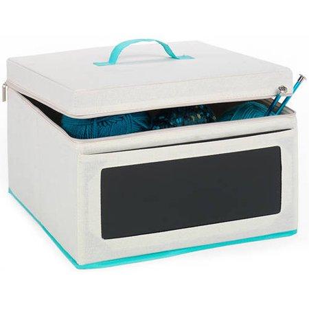MyCraft Medium Craft Storage Box with Chalkboard Front with Zipper Closure](Craft Storage Bins)