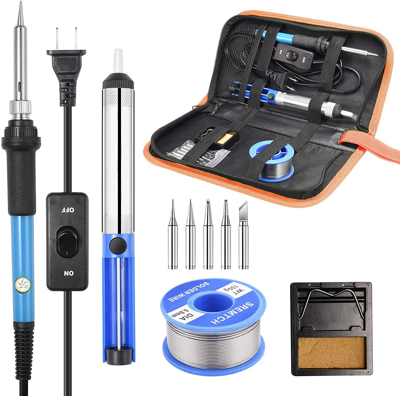 60W Electric Soldering Iron Kit Solder Welding Tool Set Adjustable Temperature