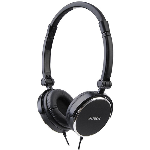 Azio L-610-1 A4TECH Wired Folding Headset With Built-In Mic Black