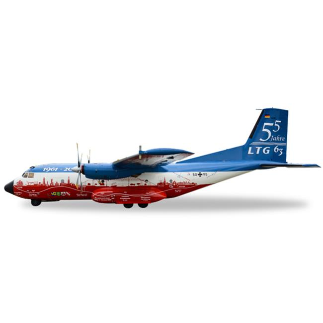 Herpa 1-200 Scale Military E558068 Luftwaffe C-160 55J LTG 63-60J, 1-200 by Herpa 1 200 Scale Military