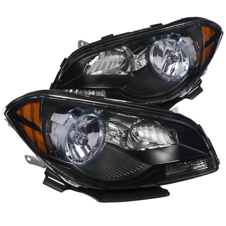 Spec-D Tuning For 2008-2012 Chevy Malibu Black Headlights Head Lamps Lh + Rh Amber 2008 2009 2010 2011 2012 (Left+Right) Chevy Malibu 2009