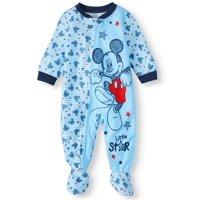 Mickey Mouse Baby Boy Microfleece Blanket Sleepers Pajamas