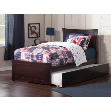 Metro Platform Bed with Matching Foot Board with Twin Size Urban Trundle Bed, Multiple Colors and Sizes (Metro Bel Air)