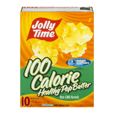 (4 Pack) Jolly Time 100 Calorie Healthy Pop Butter Microwave Pop Corn, 1.2 oz, 10 count for $<!---->
