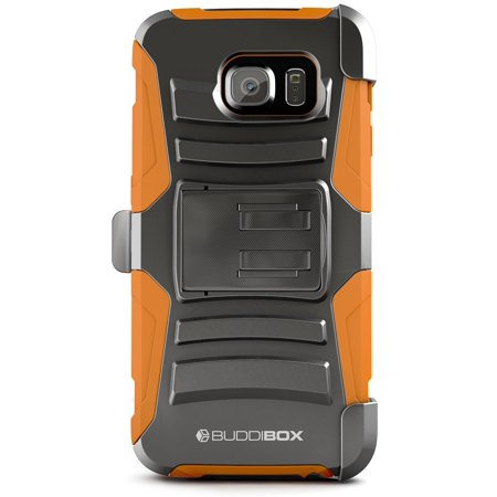 BUDDIBOX Galaxy S6 Case [HSERIES] Heavy Duty Durable Belt Clip Holster Protective Cover for Samsung (Best Galaxy S6 Cases)