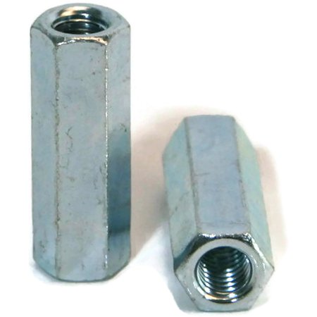 Coupling Nut Zinc Plated - 1/4