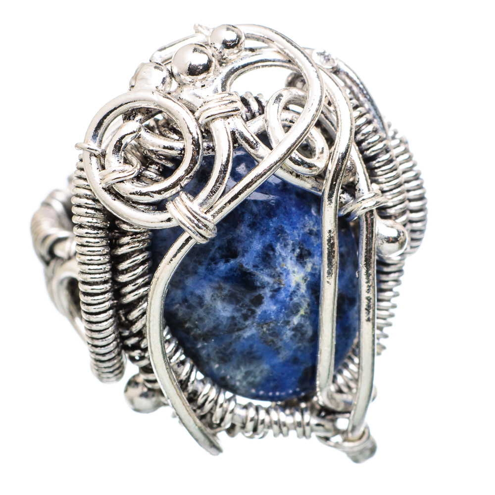 Ana Silver Co Large Sodalite 925 Sterling Silver Ring Size 8 - Handmade Jewelry RING833086