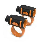 SKY Black/Orange Drumsticks Accessories, Easy Stick Twirl, Grip or Control Clips Drum Stick Grip for #5 Drum Stick