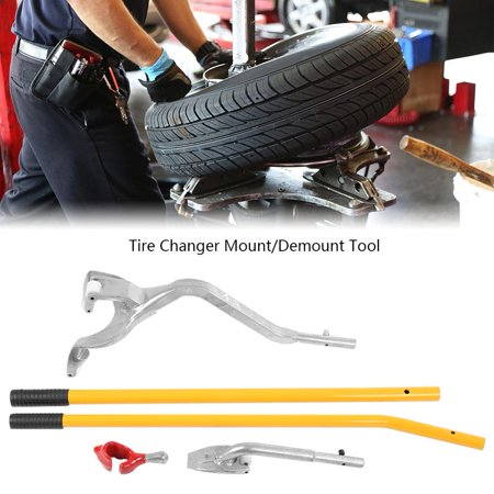 WALFRONT 3Pcs Aluminum Car Wheel Tire Changer Tire Mount Demount Dismount Repair Tools Kit, Tire Mount Tool, Tire Demount (Tie Mount)