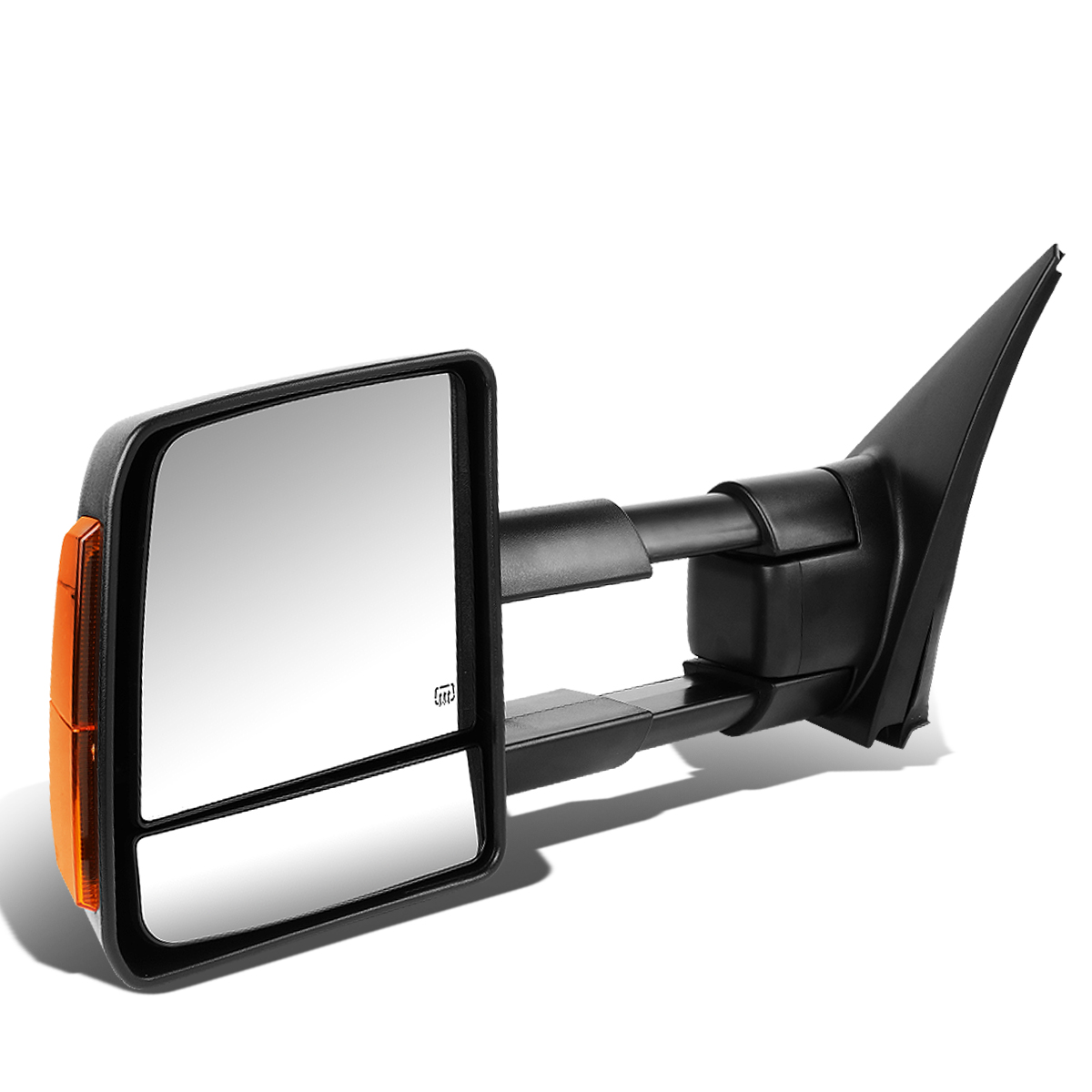 For 2007-2016 Tundra Black Manual Telescoping+Powered+Heated Glass +Amber LED Signal Towing Mirror (Left/Driver)