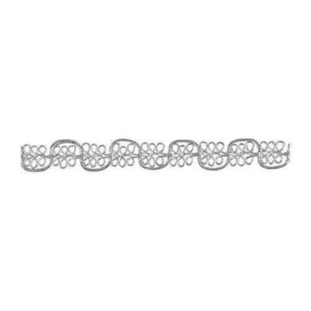 0.5 x 4 ft. Fancy Scroll Trim - Silver