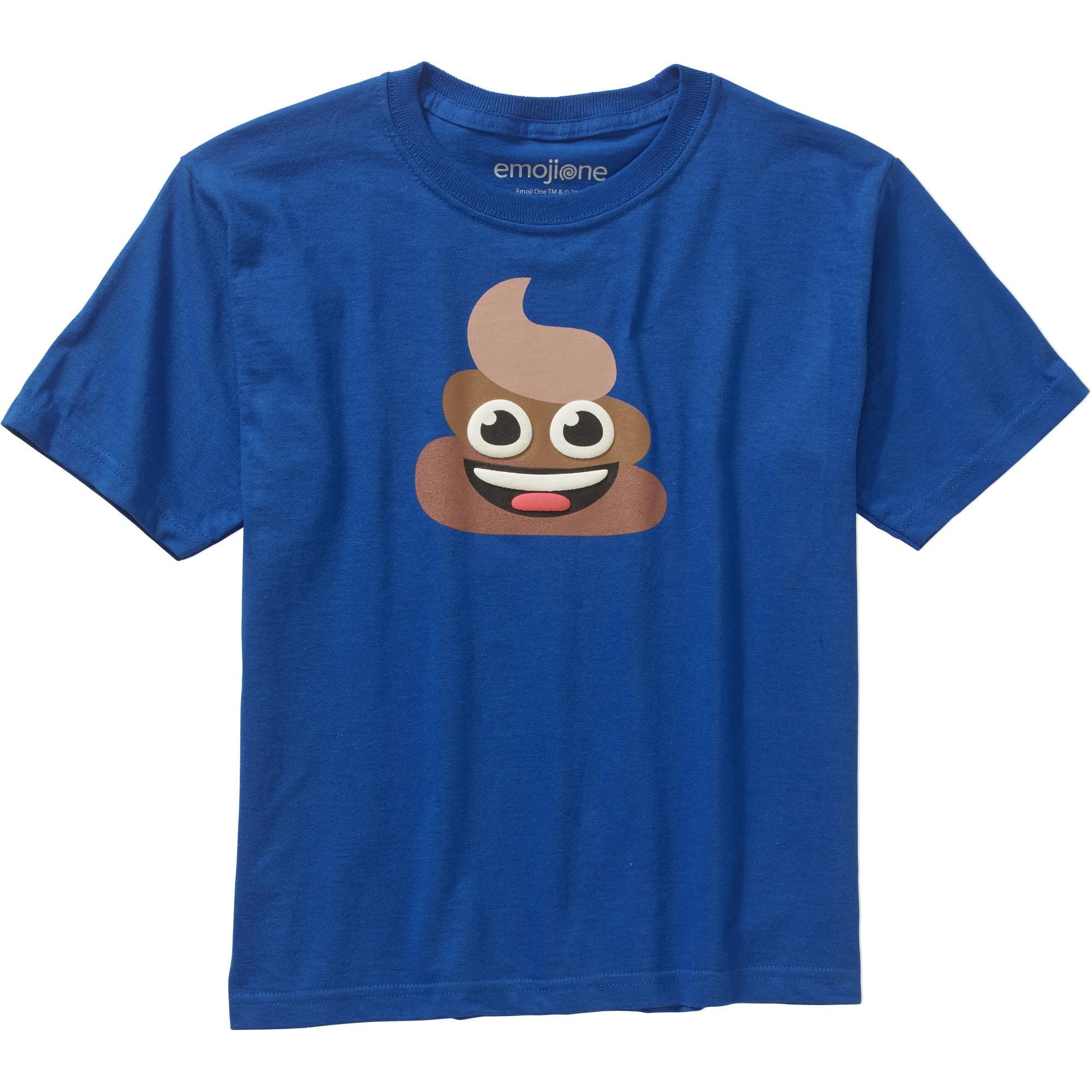 Emoji Poop Boys Graphic Tee