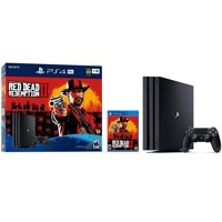Playstation 4 PRO Red Dead Redemption 2 PS4 PRO 1TB Bundle: Red Dead Redemption 2 and Playstation 4 PRO 4K HDR 1TB Gaming Console with Dualshock 4 Wireless Controller - Jet Black