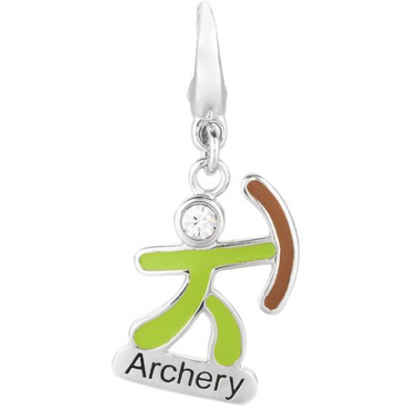 Women's Sterling Silver Olympic Archery Clip-On Charm