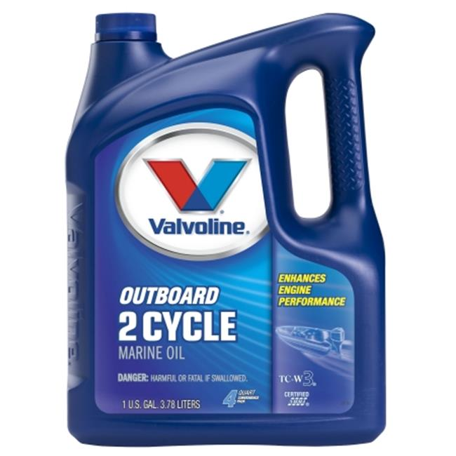 Valvoline 773735 1 Gallon 2 Cycle Outboard Marine Engine Oil - Pack of 3