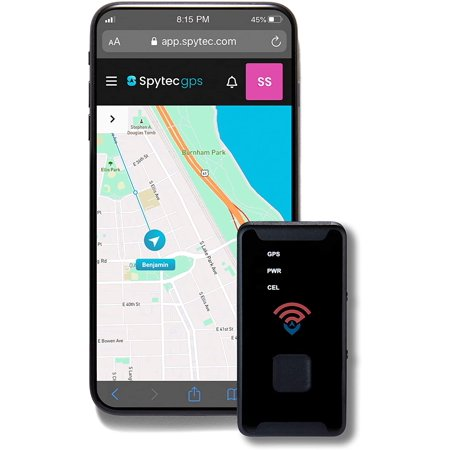 Spytec GL300 GPS Tracker for Vehicle, Car, Truck, RV, Equipment, Mini Hidden Tracking Device for Kids and Seniors, Use with Smartphone and Track Target's Real-Time Location on 4G LTE Network