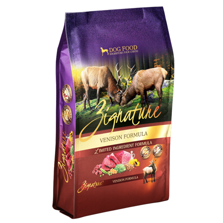 Zignature Grain-Free Venison Formula Dry Dog Food, 27 (Venison Formula Dry Food)