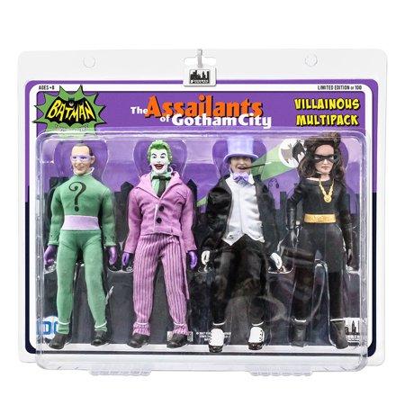 Batman Classic TV Series Action Figures: Riddler, Joker, Penguin and Catwoman [Julie] Four-Pack - Cavewoman Outfit