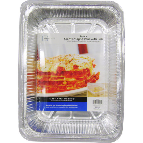 Mainstays Giant Lasagna Pans with Lids, 2pk