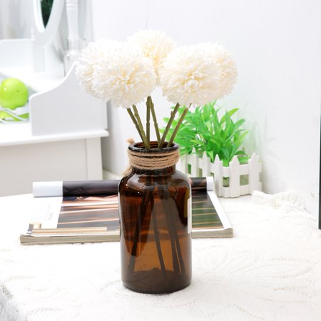 LAFGUR 6Pcs Artificial Silk Flower Beauty Fake Dandelion Ball for Home Room Wedding Decor , Artificial Silk Balls,Artificial Flower ()