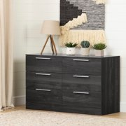 South Shore Step One Essential 6-Drawer Double Dresser, Gray Oak