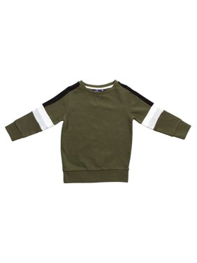 Bear Camp Color Block Stripe Pullover (Little Boys and Big Boys)