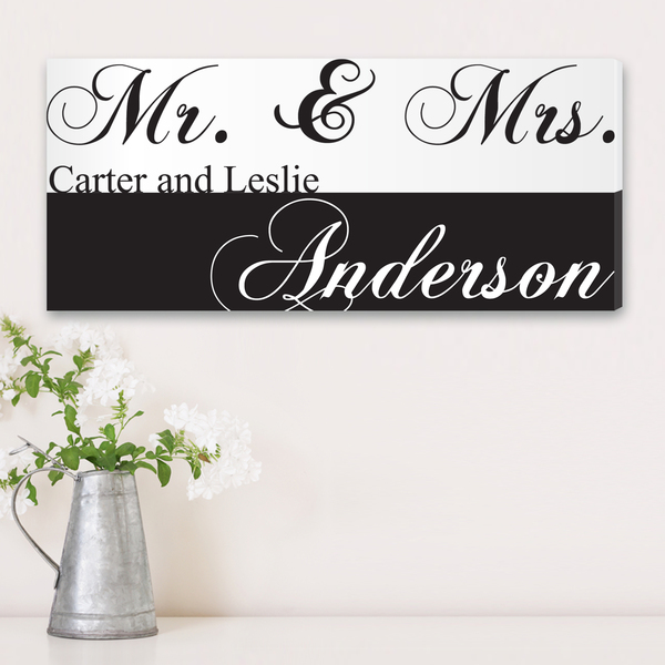Personalized Mr. & Mrs. Couples Canvas Sign