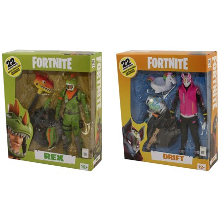 Box Set Mcfarlane Toys - McFarlane Toys Action Figures - Fortnite Battle Royale S3 - SET OF 2 (Rex & Drift)(7 inch)