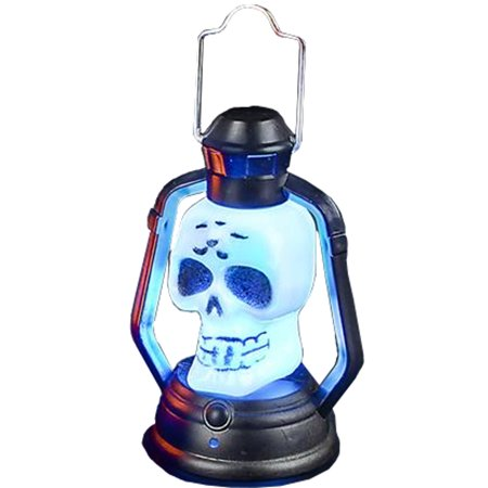 Light Up Color Changing Mini Skeleton Skull Lantern Light Decoration (Mini Skulls)
